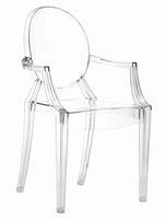 Zuo Modern Anime Dining Chair Transparent, Set of 4