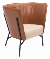 Zuo Modern Assange Occasional Chair Coffee & Beige