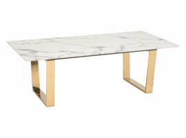 Zuo Modern Atlas Coffee Table Stone & Gold
