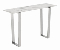 Zuo Modern Atlas Console Table Stone & Brushed Ss