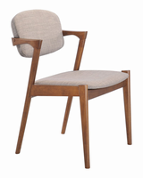 Zuo Modern Brickell Dining Chair Dove Gray, Set of 2
