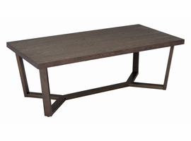 Zuo Modern Brooklyn Coffee Table Gray Oak & A.brass