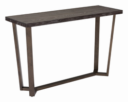 Zuo Modern Brooklyn Console Table Gray Oak &a.brass