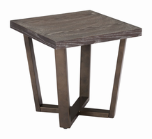 Zuo Modern Brooklyn Side Table Gray Oak & A.brass