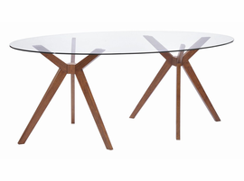 Zuo Modern Buena Vista Dining Table Walnut