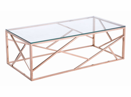 Zuo Modern Cage Coffee Table Rose Gold