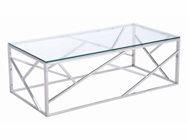 Zuo Modern Cage Coffee Table Stainless Steel
