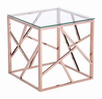 Zuo Modern Cage Side Table Rose Gold