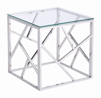 Zuo Modern Cage Side Table Stainles Steel