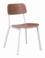 Zuo Modern Cappuccino Dining Chair, Set of 4