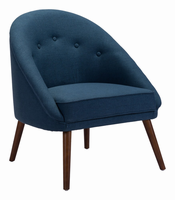 Zuo Modern Carter Occasional Chair Cobalt Blue