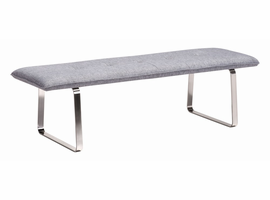 Zuo Modern Cartierville Bench Gray