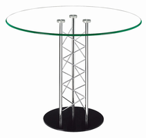 Zuo Modern Chardonnay Dining Table Chrome