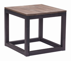 Zuo Modern Civic Center Side Table Distressed Natural