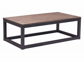 Zuo Modern Civic Center Long Coffee Table Distressed Natural