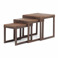 Zuo Modern Civic Center Nesting Tables Distressed Natural