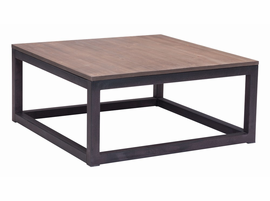 Zuo Modern Civic Center Square Coffee Table Distressed Natural