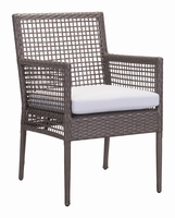 Zuo Modern Coronado Dining Chair Cocoa & Light Gray, Set of 2