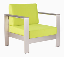 Zuo Modern Cosmopolitan Arm Chair Cushion Green