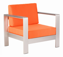 Zuo Modern Cosmopolitan Arm Chair Cushion Orange