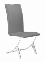 Zuo Modern Delfin Dining Chair Gray, Set of 2