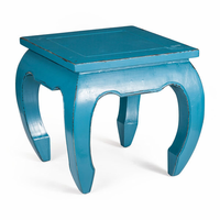 Zuo Modern Donahue Side Table Distressed Turquoise