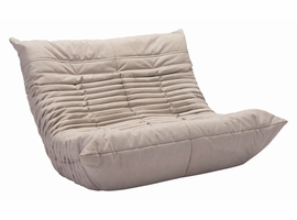 Zuo Modern Down Low Loveseat Beige