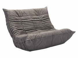 Zuo Modern Down Low Loveseat Gray