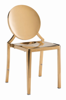 Zuo Modern Eclipse Dining Chair Gold, Set of 2