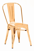 Zuo Modern Elio Dining Chair Gold, Set of 2