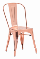 Zuo Modern Elio Dining Chair Rose Gold, Set of 2