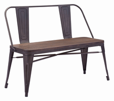 Zuo Modern Elio Double Bench Rustic Wood