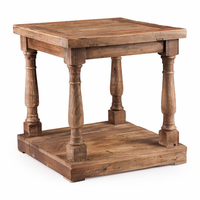 Zuo Modern Fairfax Side Table Distressed Oak