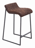 Zuo Modern Father Counter Stool Vintage Brown, Set of 2