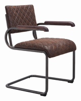 Zuo Modern Father Dining Arm Chair Vintage Brown, Set of 2