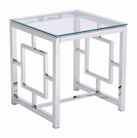 Zuo Modern Geranium Side Table Stainless Steel
