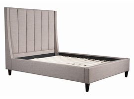 Zuo Modern Gilded Age Queen Bed Dove Gray