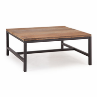 Zuo Modern Gilman Square Coffee Table Distressed Natural