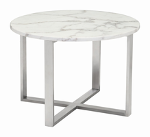 Zuo Modern Globe End Table Stone & Ss