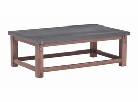 Zuo Modern Greenpoint Coffee Table Gray & Distressed Fir