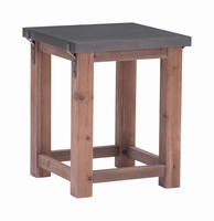 Zuo Modern Greenpoint Side Table Gray & Distressed Fir