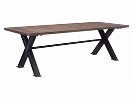 Zuo Modern Haight Ashbury Table Distressed Natural