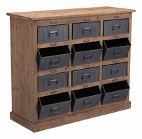 Zuo Modern Haricot Cabinet Natural Pine & Industrial Gray