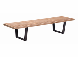 Zuo Modern Heywood Triple Bench Natural