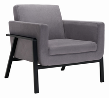 Zuo Modern Homestead Lounge Chair Gray