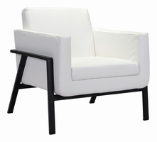 Zuo Modern Homestead Lounge Chair White Pu