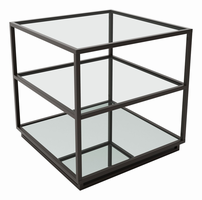 Zuo Modern Kure End Table-distressed Black