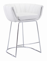 Zuo Modern Latte Counter Chair White, Set of 2
