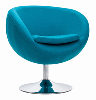 Zuo Modern Lund Arm Chair Island Blue