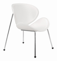 Zuo Modern Match Chair White, Set of 2